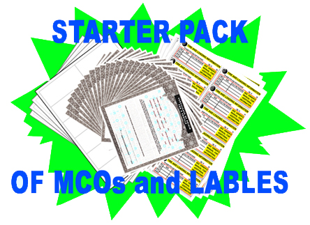 starter pack MCOs and VIN labels for new DOT licensed vehicle manufacturers