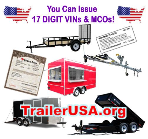 Trailer VIN numbers MCOs